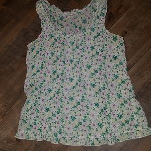 Old Navy floral thin sleeveless summer top M